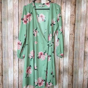 LOFT Floral Lightweight Spring Summer Wrap Dress